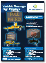 Variable Message Sign Displays